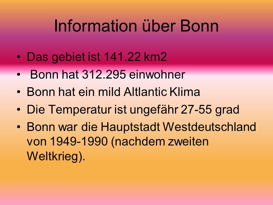 Information über Bonn Das gebiet ist 141.22 km2