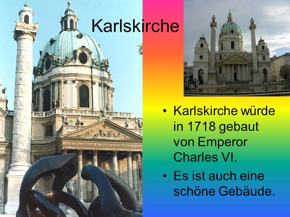 Karlskirche Karlskirche würde in 1718 gebaut von Emperor Charles VI.