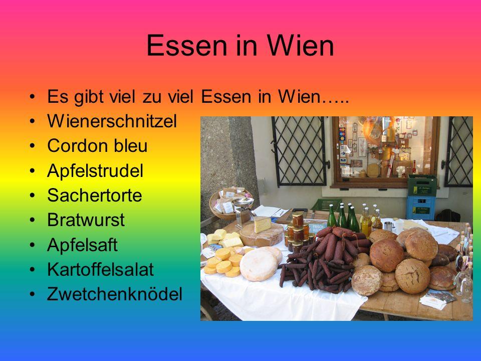 Essen in Wien Es gibt viel zu viel Essen in Wien….. Wienerschnitzel