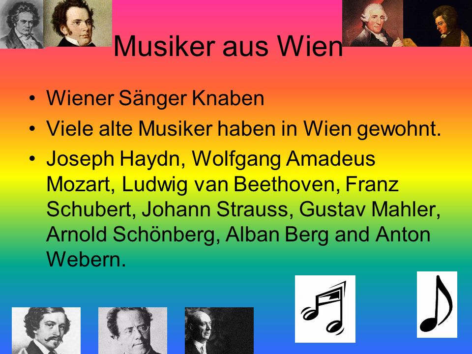 Musiker aus Wien Wiener Sänger Knaben