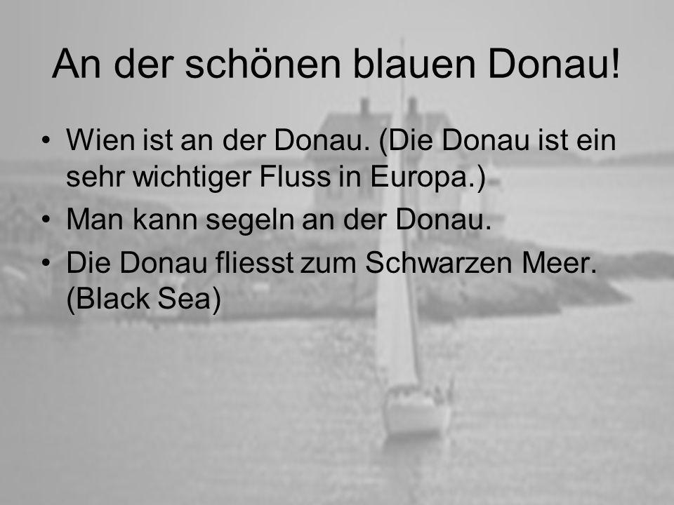 An der schönen blauen Donau!