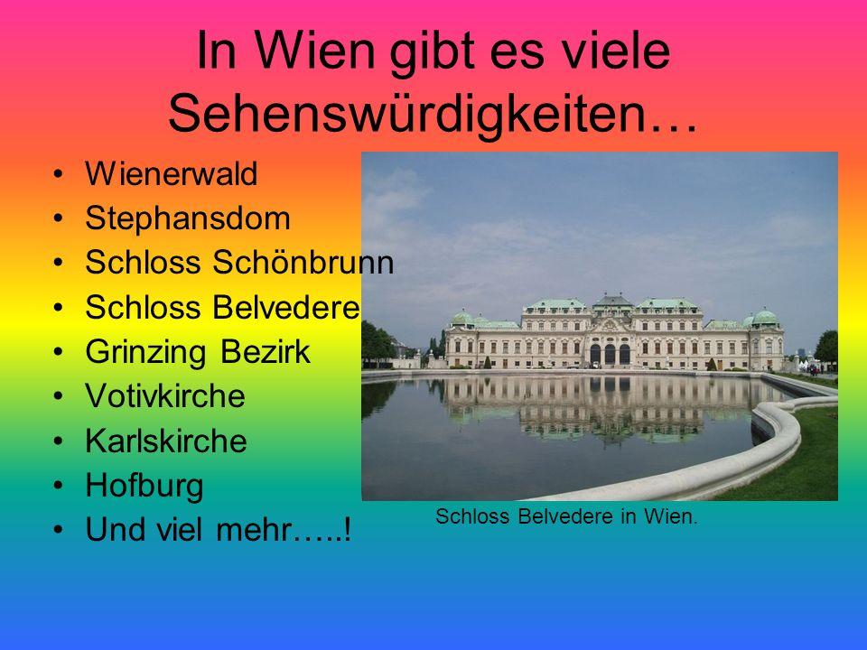 In Wien gibt es viele Sehenswürdigkeiten…