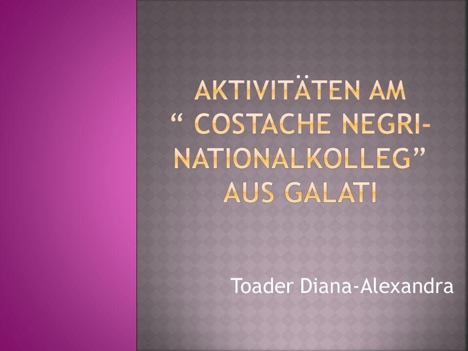 Aktivitäten am Costache Negri-Nationalkolleg aus Galati