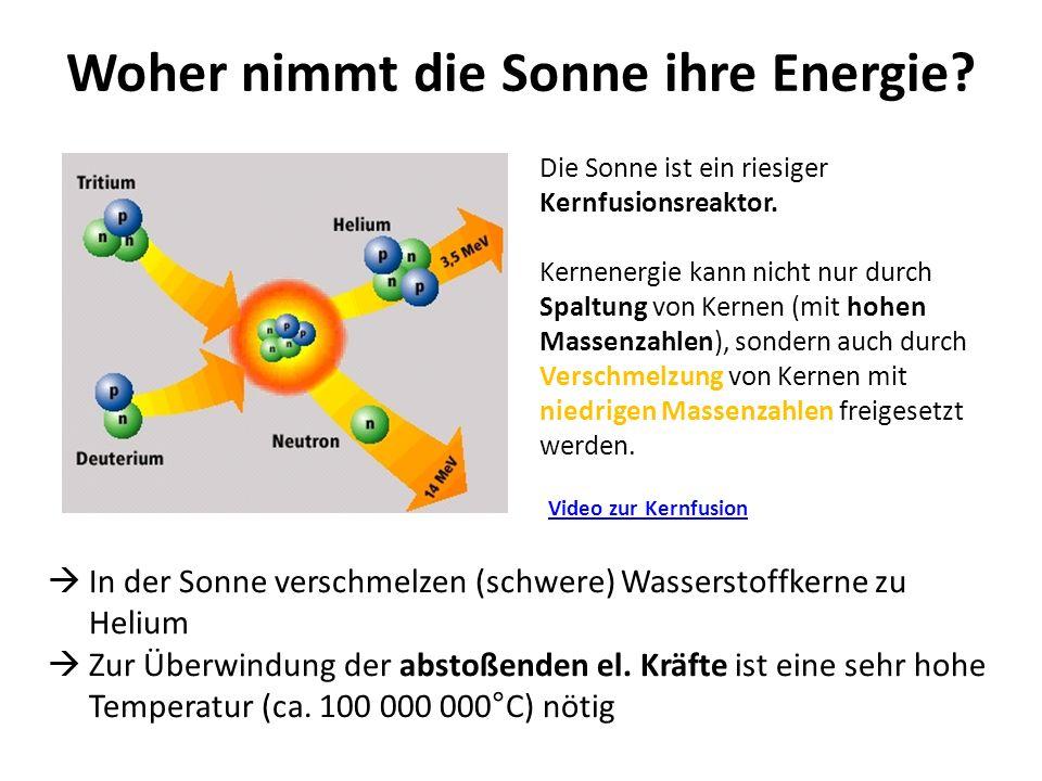 Woher nimmt die Sonne ihre Energie