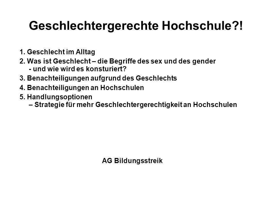 Geschlechtergerechte Hochschule !