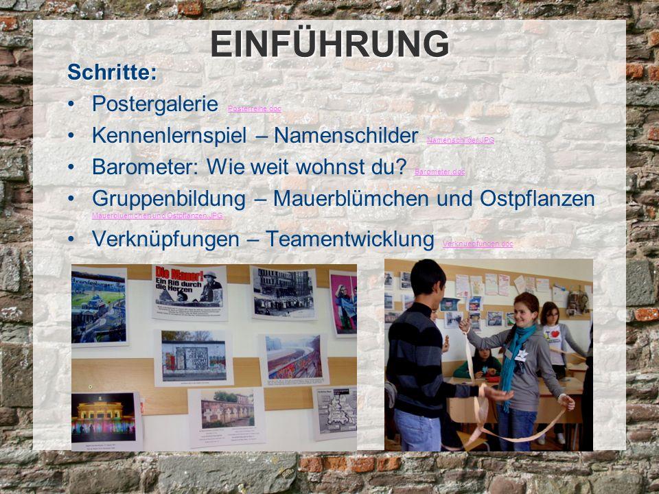 EINFÜHRUNG Schritte: Postergalerie Posterreihe.doc