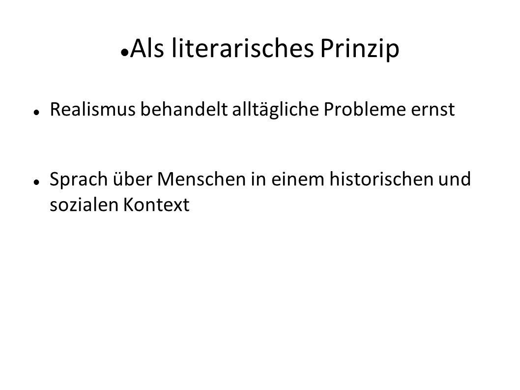 Als literarisches Prinzip