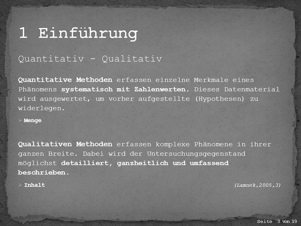 1 Einführung Quantitativ - Qualitativ