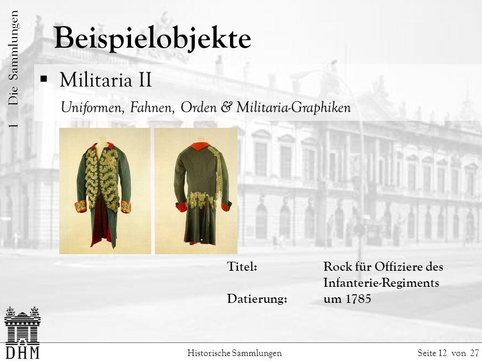 Beispielobjekte Militaria II