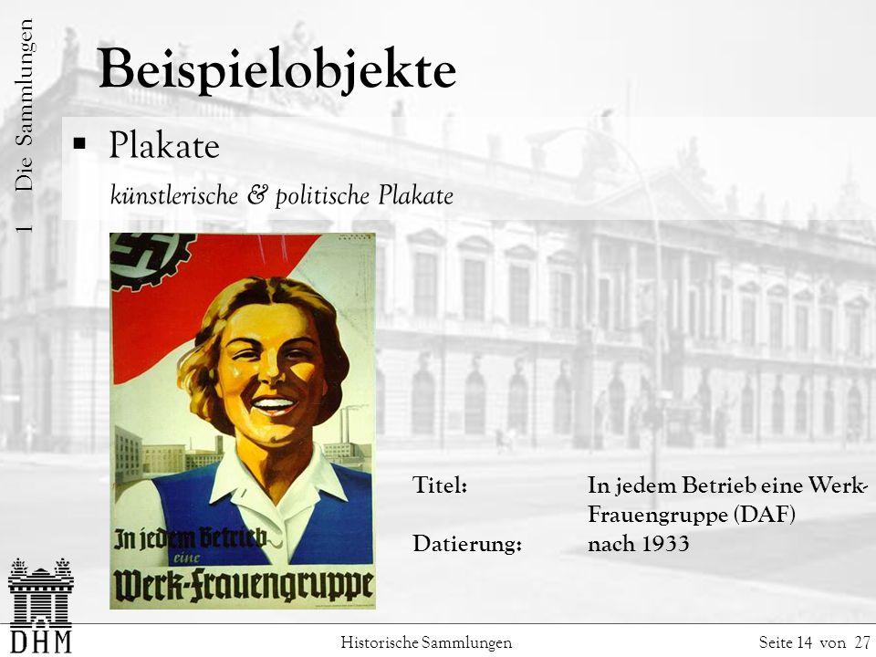 Beispielobjekte Plakate künstlerische & politische Plakate