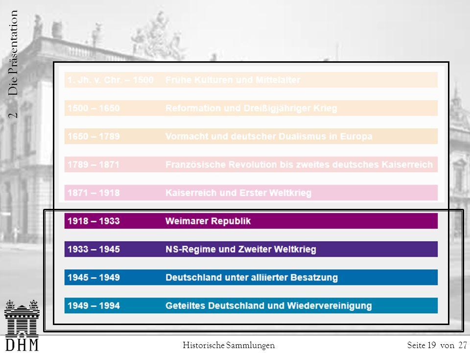 2 Die Präsentation Historische Sammlungen Seite 19 von 27.