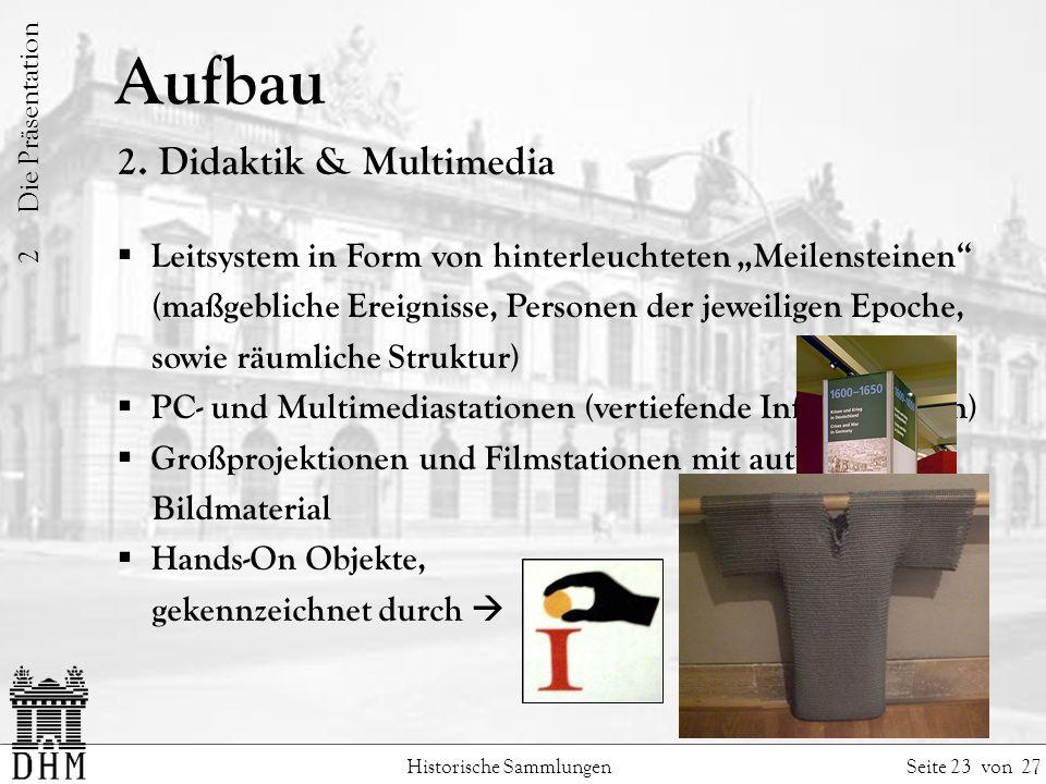 Aufbau 2. Didaktik & Multimedia