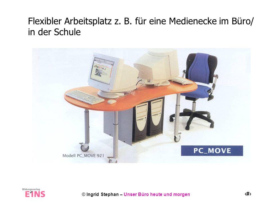 Flexibler Arbeitsplatz z. B. für eine Medienecke im Büro/ in der Schule