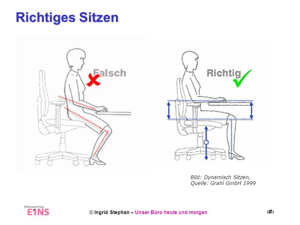 Richtiges Sitzen Bild: Dynamisch Sitzen, Quelle: Grahl GmbH 1999