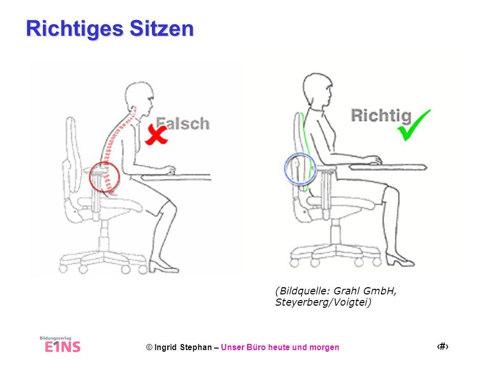 Richtiges Sitzen (Bildquelle: Grahl GmbH, Steyerberg/Voigtei)