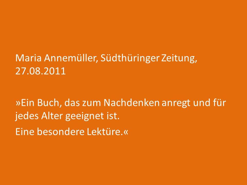 Maria Annemüller, Südthüringer Zeitung, 27. 08