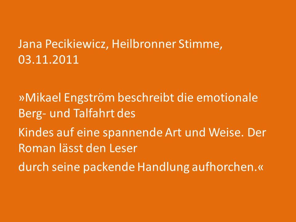 Jana Pecikiewicz, Heilbronner Stimme, 03. 11