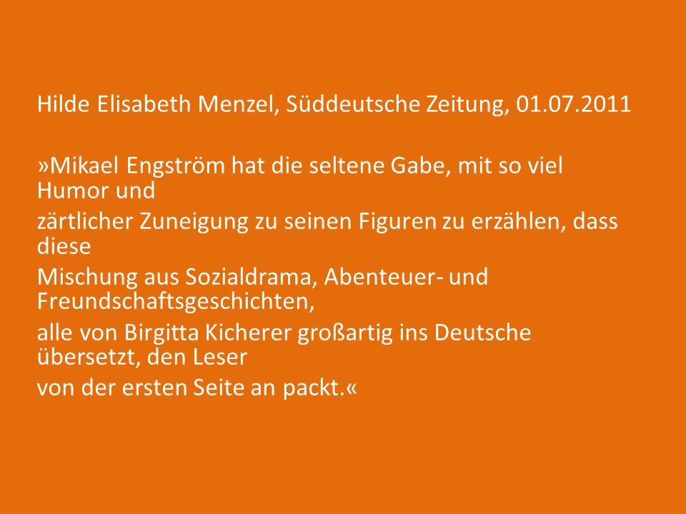 Hilde Elisabeth Menzel, Süddeutsche Zeitung, 01. 07