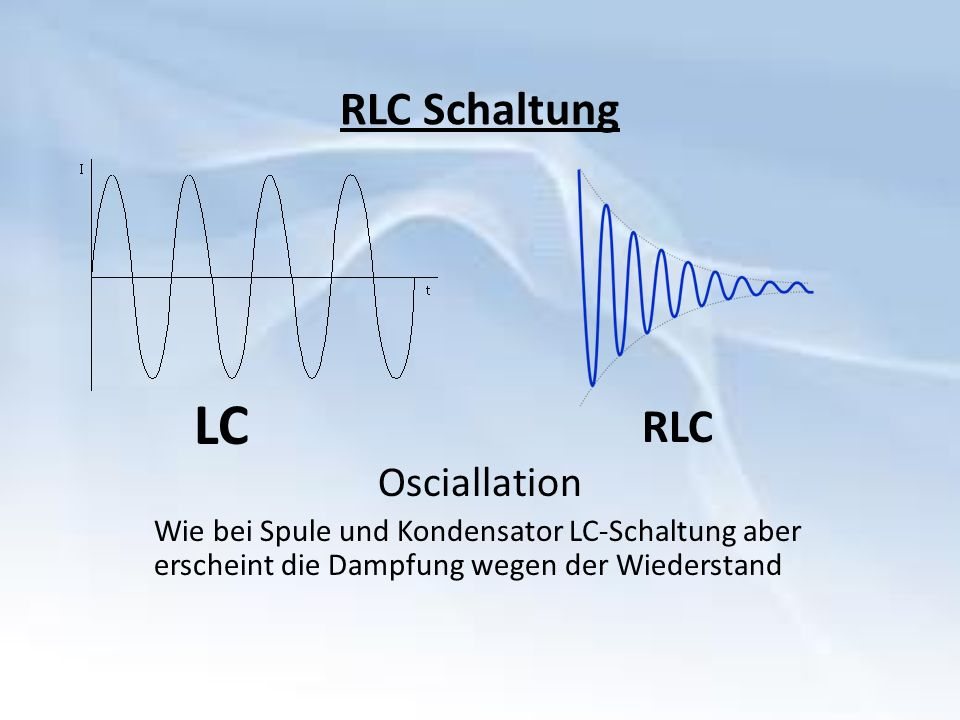 LC RLC Schaltung RLC Osciallation