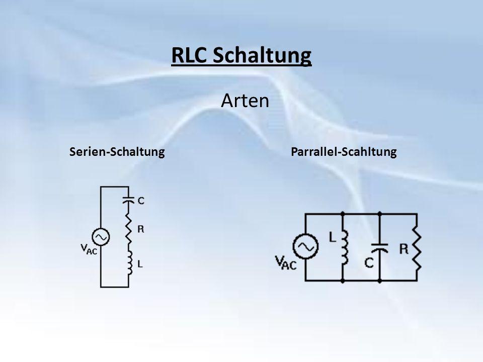 RLC Schaltung Arten Serien-Schaltung Parrallel-Scahltung
