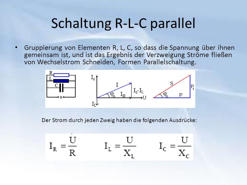 Schaltung R-L-C parallel