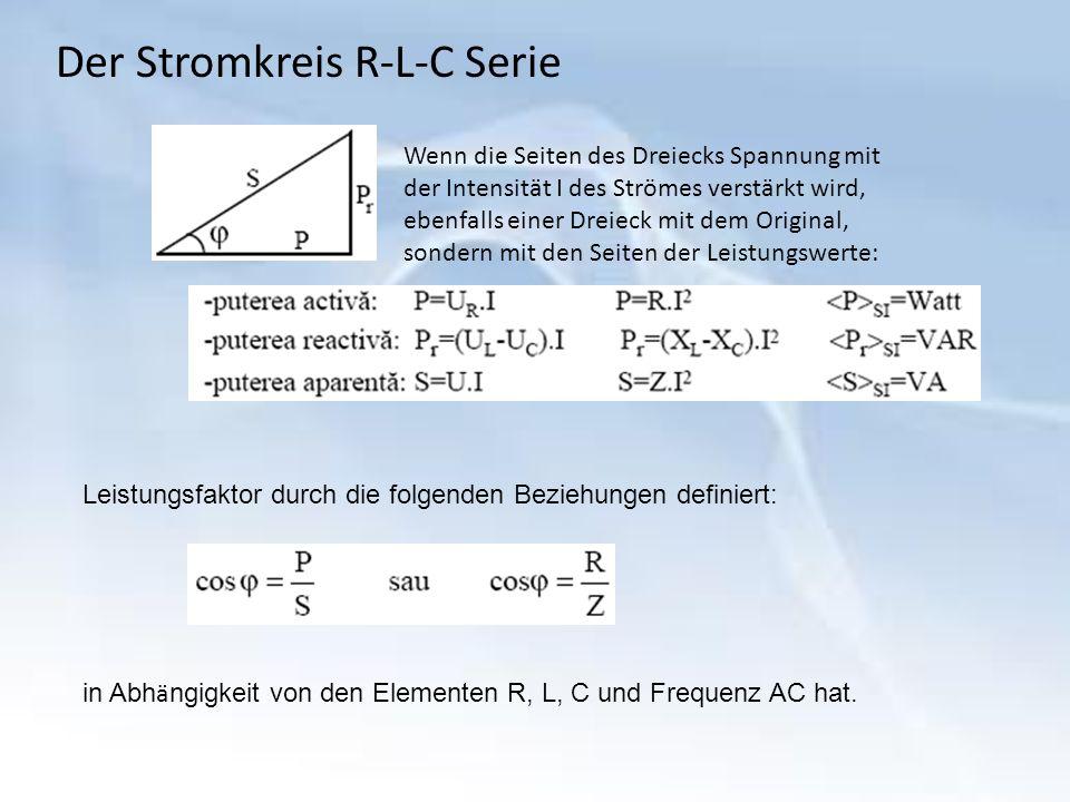Der Stromkreis R-L-C Serie