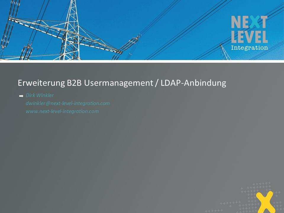 Erweiterung B2B Usermanagement / LDAP-Anbindung