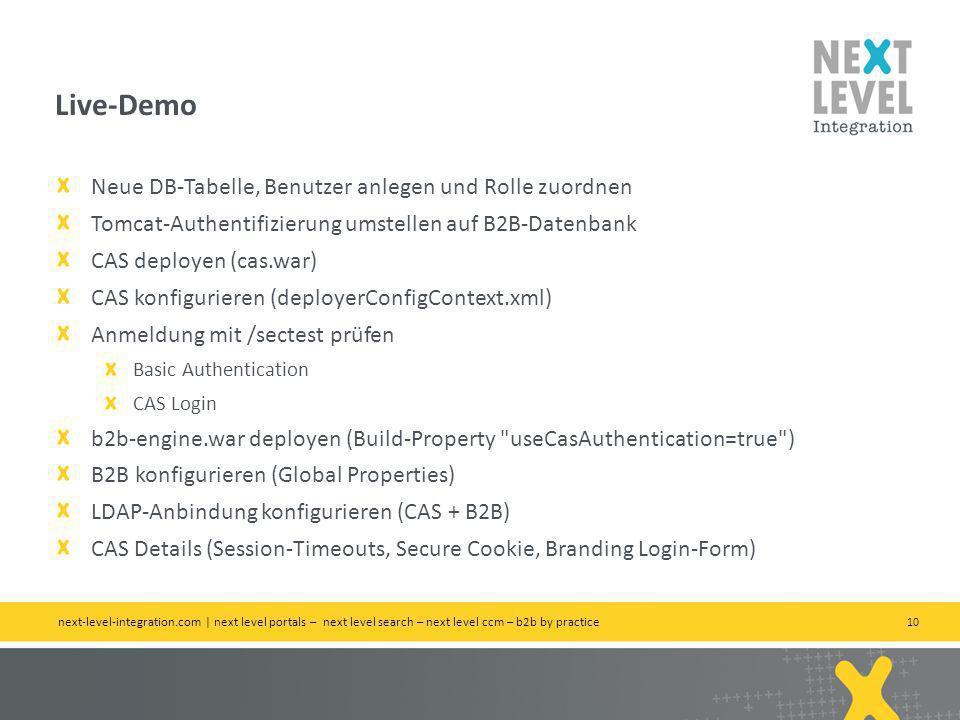 Live-Demo Neue DB-Tabelle, Benutzer anlegen und Rolle zuordnen