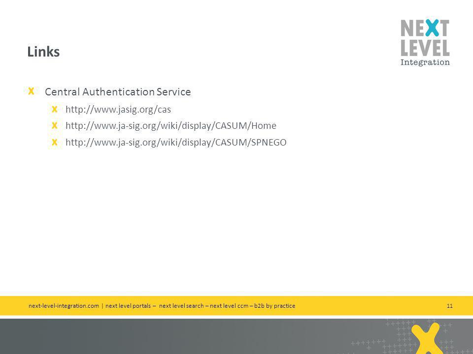 Links Central Authentication Service http://www.jasig.org/cas