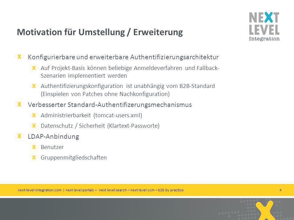 Motivation für Umstellung / Erweiterung