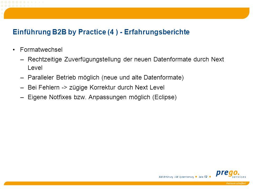 Einführung B2B by Practice (4 ) - Erfahrungsberichte