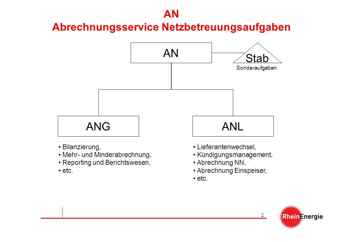 AN Abrechnungsservice Netzbetreuungsaufgaben