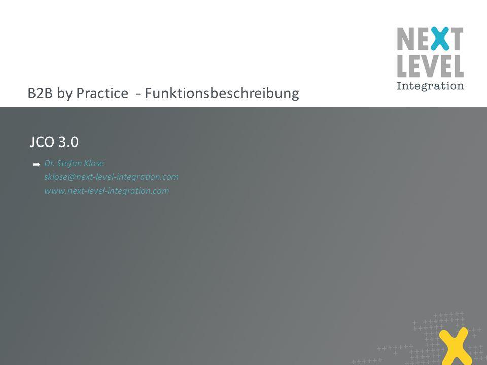 B2B by Practice - Funktionsbeschreibung