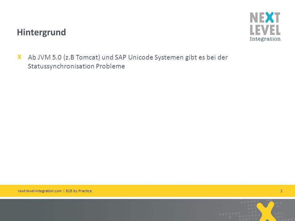 Hintergrund Ab JVM 5.0 (z.B Tomcat) und SAP Unicode Systemen gibt es bei der Statussynchronisation Probleme.