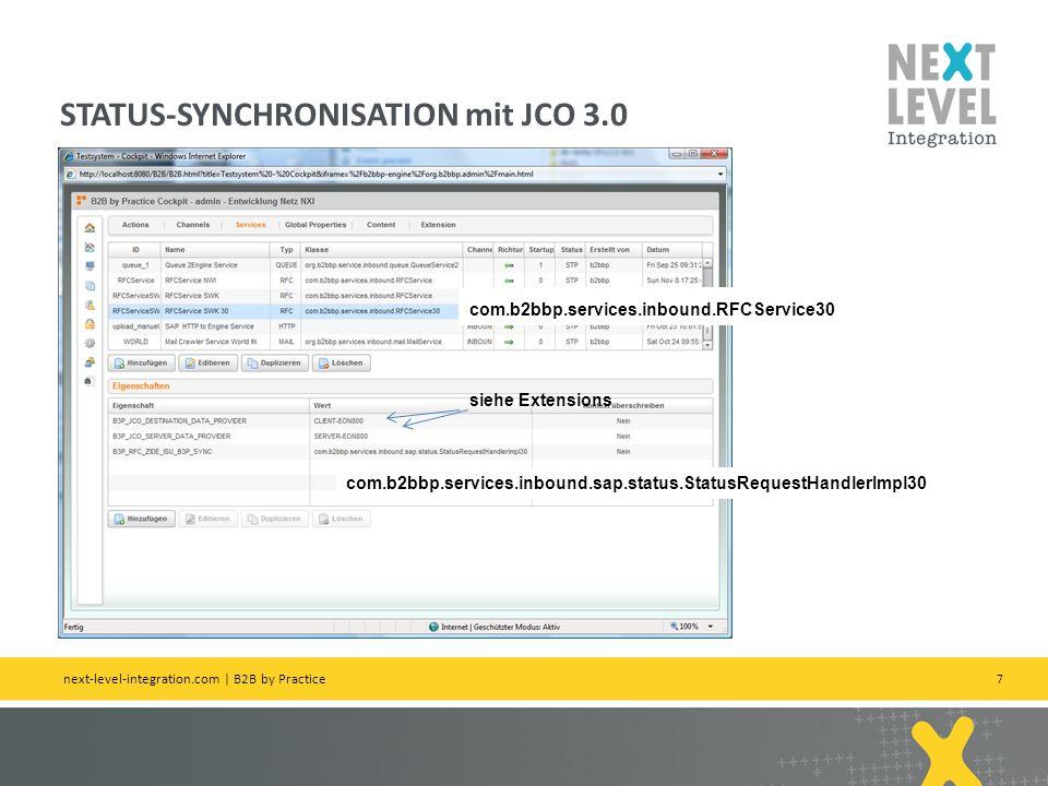 STATUS-SYNCHRONISATION mit JCO 3.0