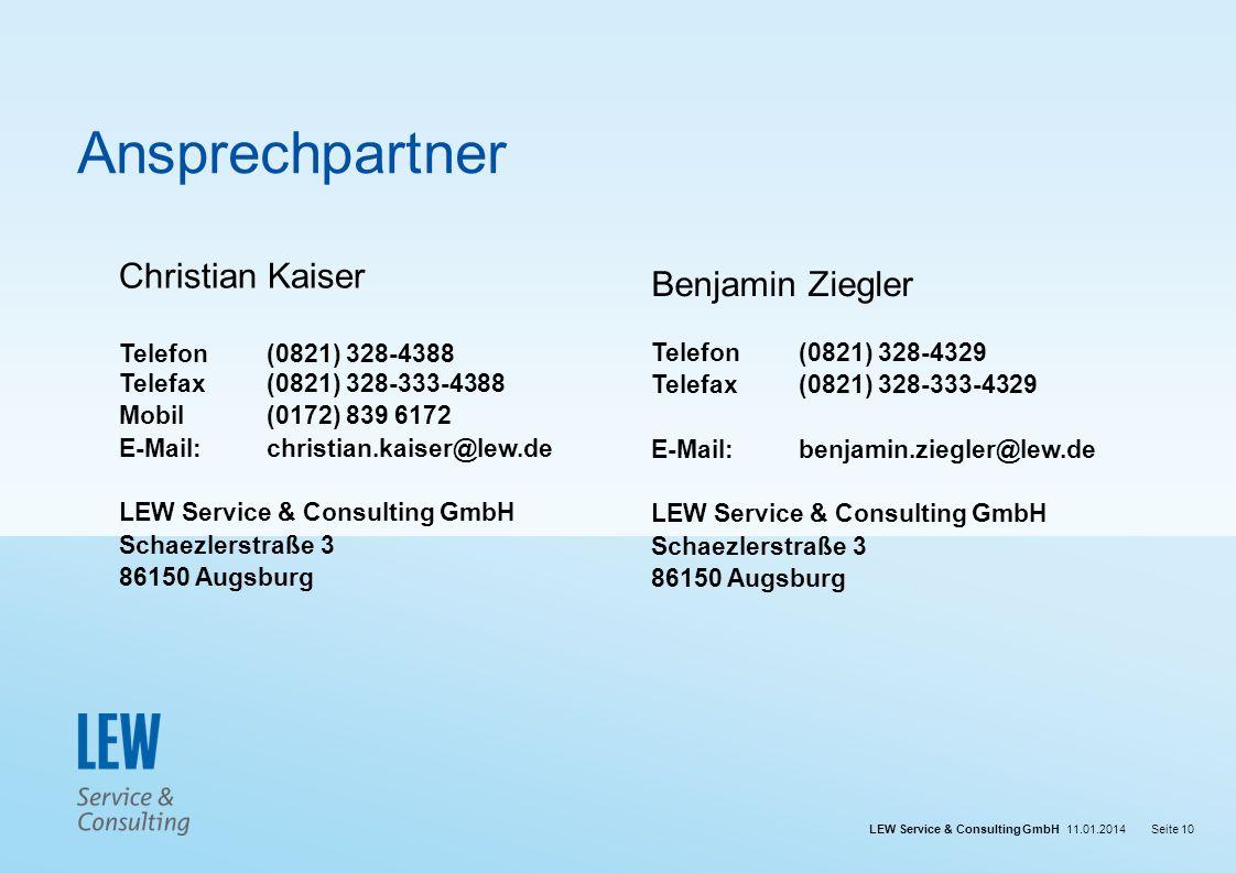Ansprechpartner Christian Kaiser Benjamin Ziegler