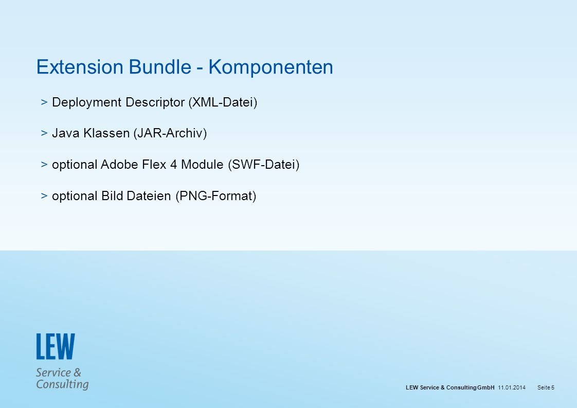 Extension Bundle - Komponenten