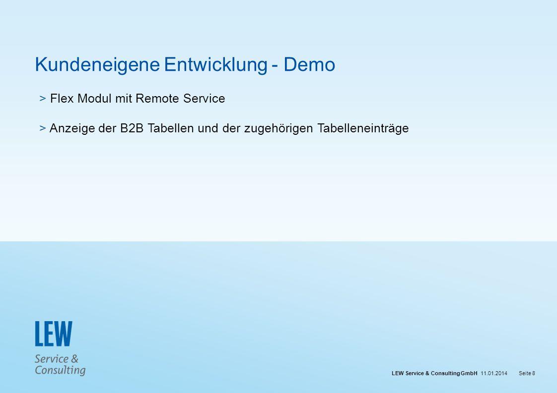 Kundeneigene Entwicklung - Demo