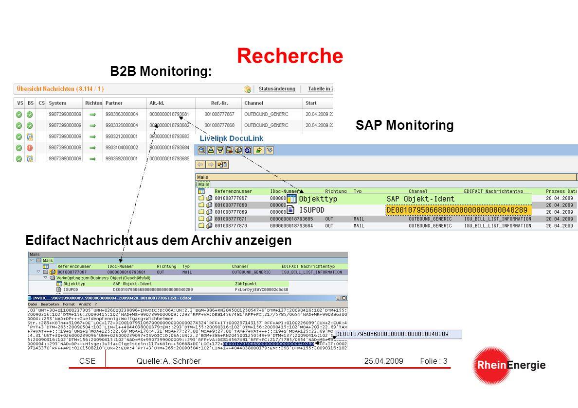 Recherche B2B Monitoring: SAP Monitoring