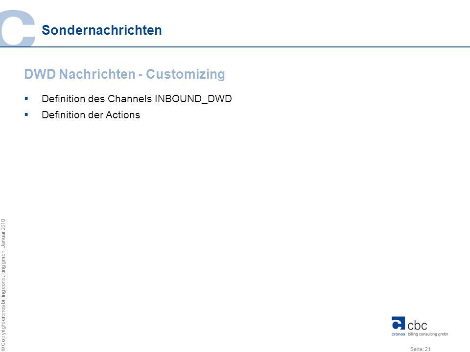 DWD Nachrichten - Customizing