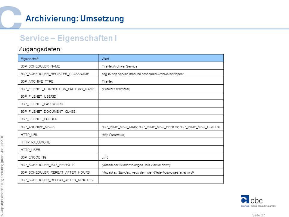 Archivierung: Umsetzung