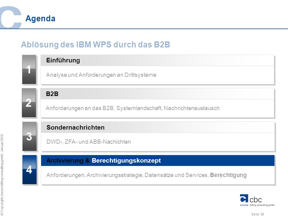1 2 3 4 Agenda Ablösung des IBM WPS durch das B2B Einführung B2B