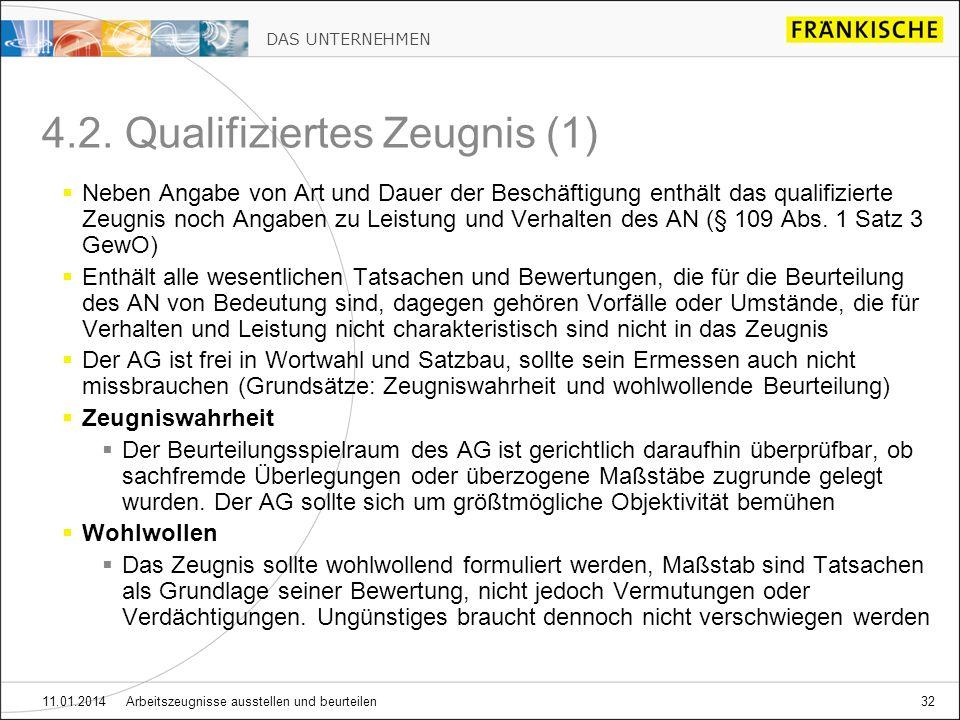 4.2. Qualifiziertes Zeugnis (1)
