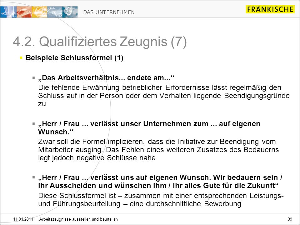 Arbeitszeugnisse Ausstellen Und Beurteilen 04/ Ppt Herunterladen