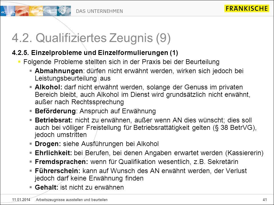 4.2. Qualifiziertes Zeugnis (9)