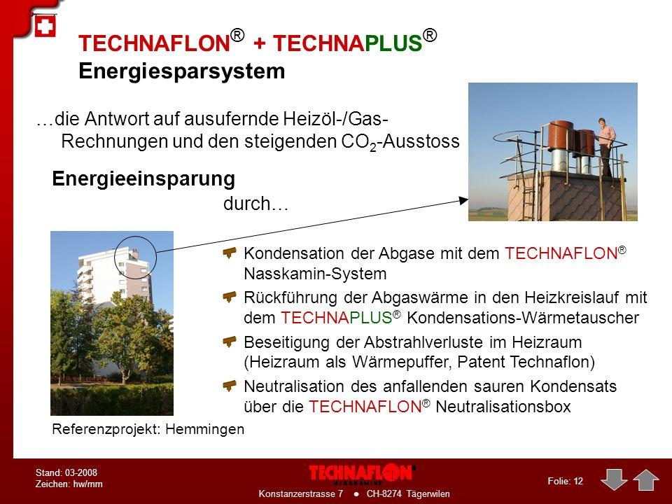 TECHNAFLON® + TECHNAPLUS® Energiesparsystem