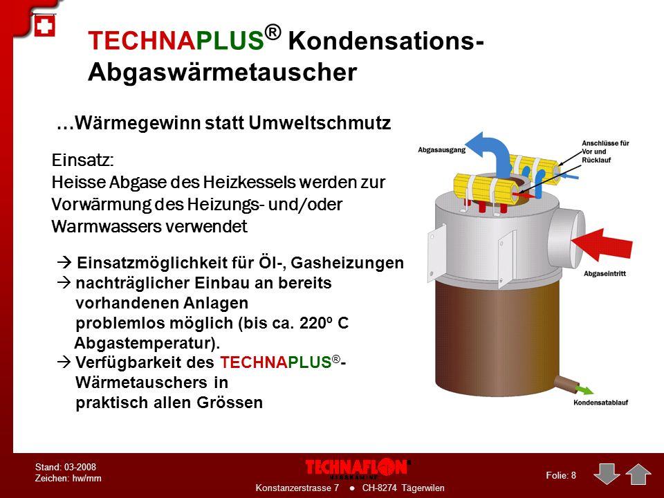TECHNAPLUS® Kondensations-Abgaswärmetauscher