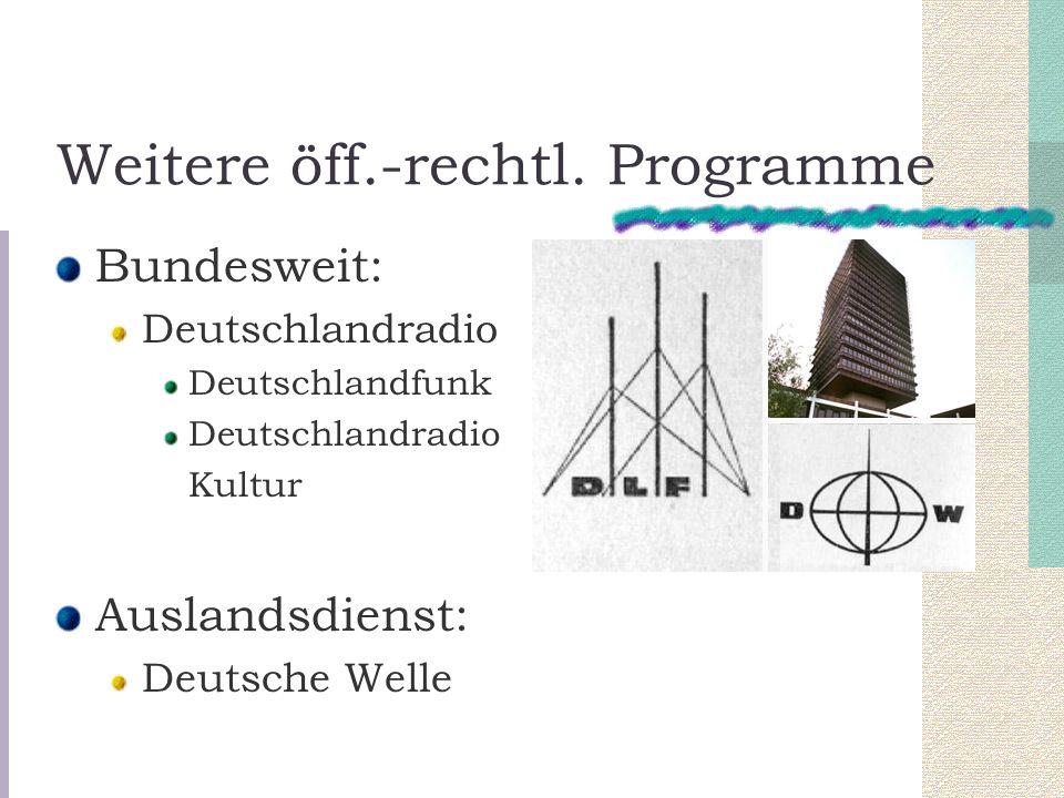 Weitere öff.-rechtl. Programme