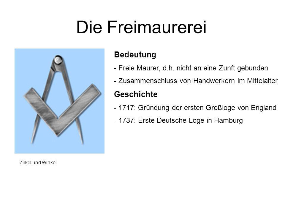 Die Freimaurerei Bedeutung Geschichte