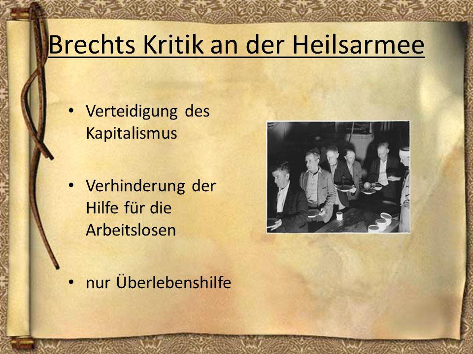 Brechts Kritik an der Heilsarmee